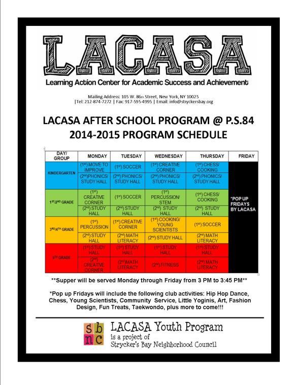 Lacasa 2014-2015 After School Flyer